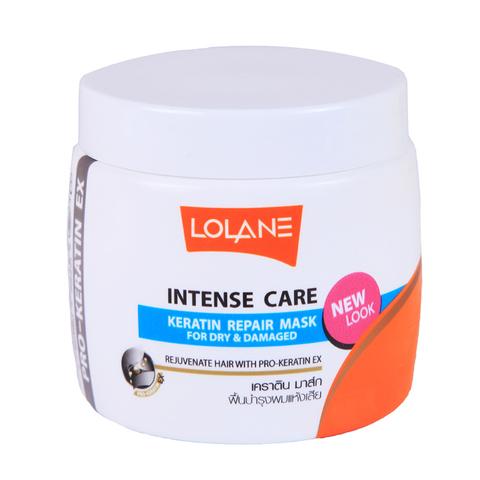 Кератиновая маска Lolane Intense Care для восстановления поврежденных и обезвоженных волос 200 мл