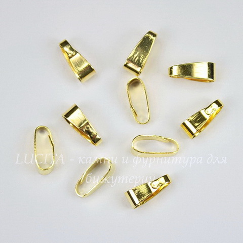 Бейл - петелька 11х4 мм (цвет - золото), 10 штук