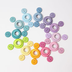 Набор колечек пастельных цветов (Grimms)