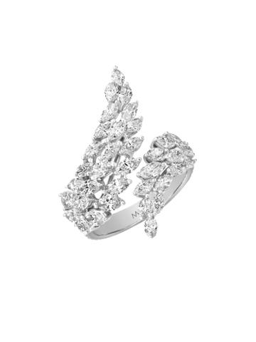 Оригинальное кольцо ANGEL из серебра с цирконами
