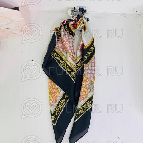 Платок с резинкой модный аксессуар для волос (цвет: чёрный, белый)