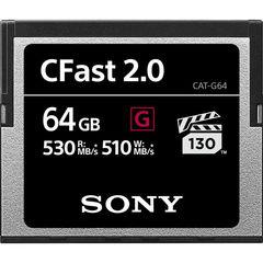 Карта памяти Sony 64GB CFast 2.0 серия G 530 - 510MB/s VPG-130