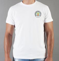Футболка с принтом FC Manchester City (ФК Манчестер Сити) белая 0013