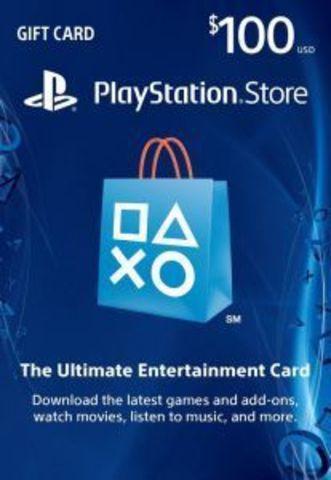 PS Store USA: Пополнение бумажника на 100$ (цифровая версия)
