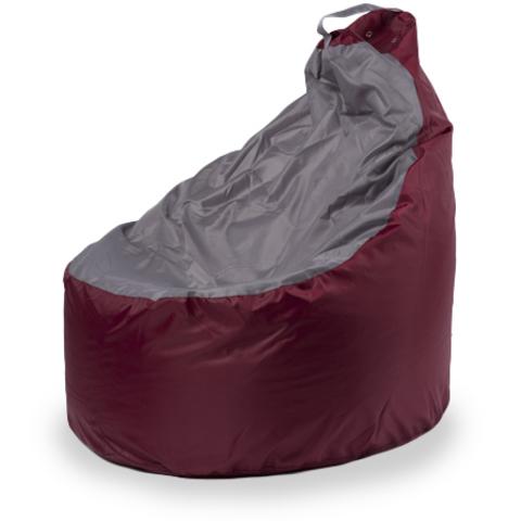 Внешний чехол Кресло-мешок комфорт  145x90x90, Оксфорд Бордовый и серый