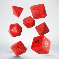 RuneQuest Red & gold Dice Set (7)