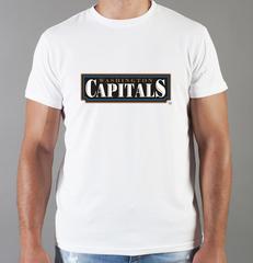 Футболка с принтом НХЛ Вашингтон Кэпиталз (NHL Washington Capitals) белая 007
