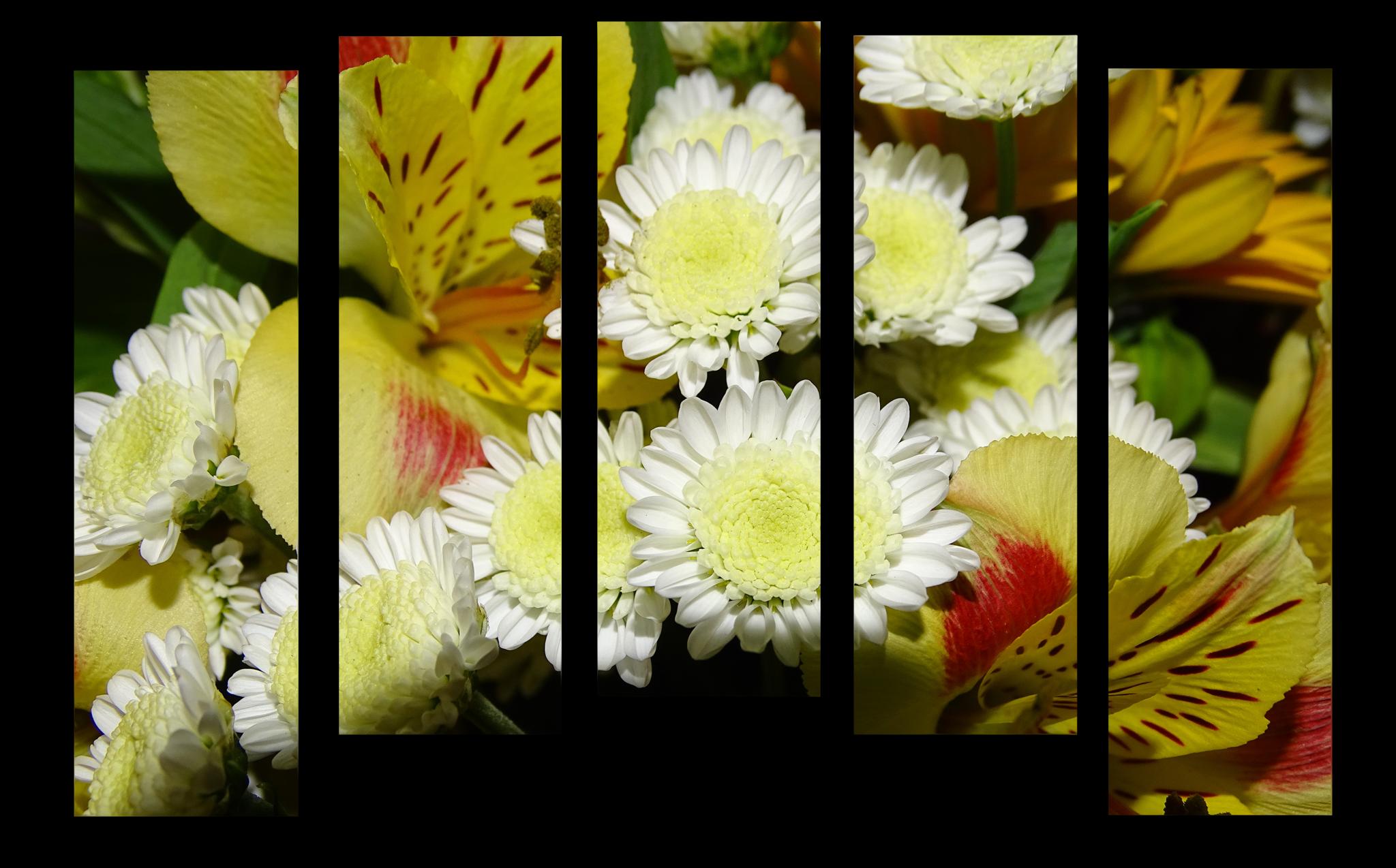 """Цветы Модульная картина """"Хризантемы"""" М1055_M_загибы_90х67.png"""