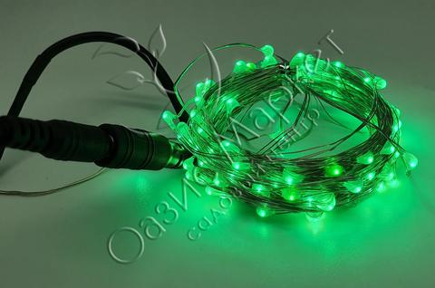 Светодиодная гирлянда роса 10м 100LED зеленый