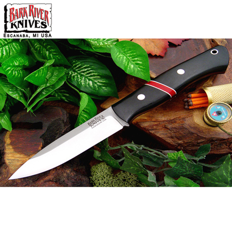 Нож Bark River модель Aurora Black Canvas Micarta Bloody Basin Spacer