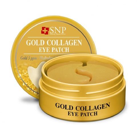 Гидрогелевые патчи SNP Gold Gollagen eye patch , для глаз с коллагеном и частицами золота, 60 шт.