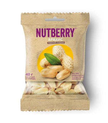 NUTBERRY Арахис жареный соленый 40 г
