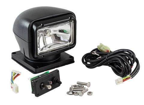 Прожектор стационарный галогеновый, с проводным пультом ДУ, черный (серия 310)