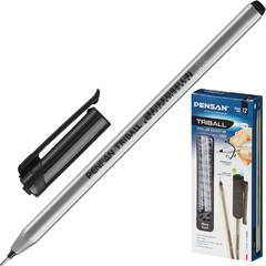 Ручка шариковая одноразовая Pensan Triball черная (толщина линии 1 мм)