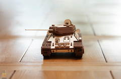 Механический Танк Т-34-85 (EWA) - Деревянный конструктор, 3D пазл, сборная модель