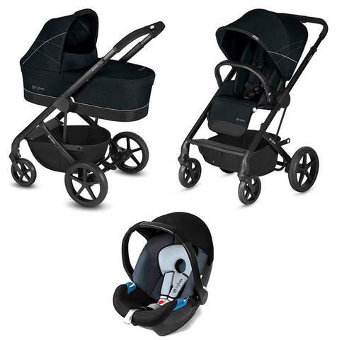Детская коляска Cybex Balios S 3 в 1 Lavastone Black
