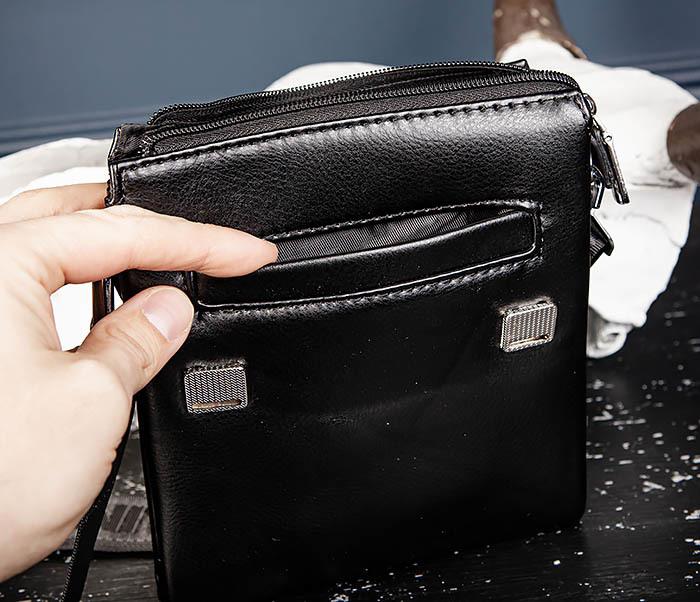 BAG560-1-2 Небольшая мужская сумка с ремнем на плечо фото 08