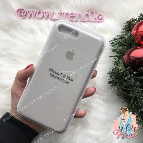 Чехол iPhone 7+/8+ Silicone Case /stone/ светло-серый 1:1