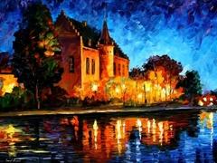 Замок - раскраски по номерам на картоне