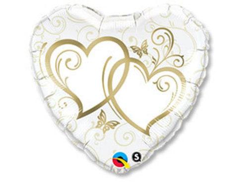 Фольгированный шар Сердца переплетенные