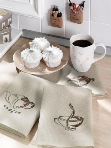 Набор салфеток  COFFEE  3пр по 40х60 TIVOLYO HOME Турция
