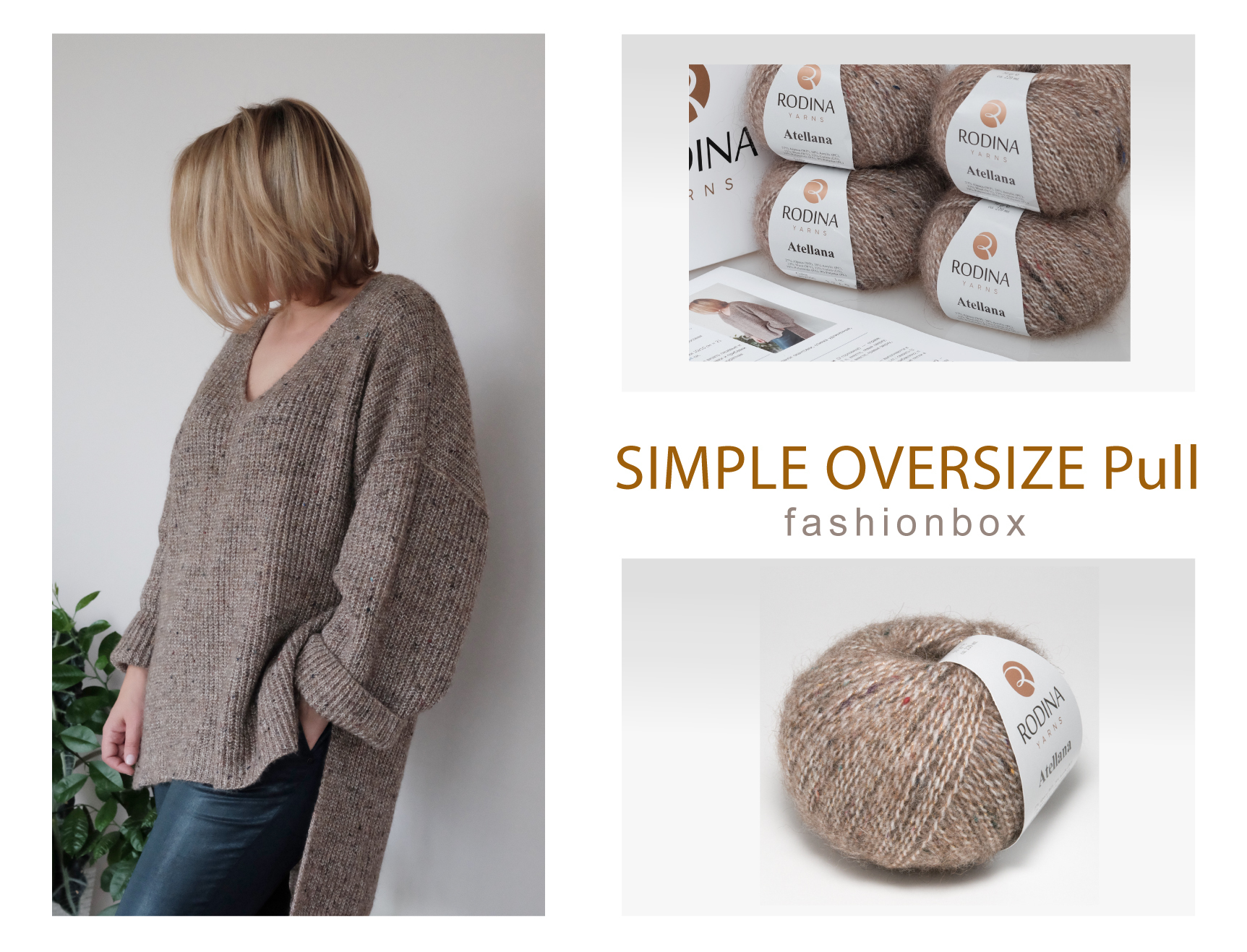 SIMPLE OVERSIZE Pullover Fashionbox
