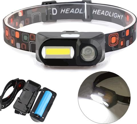 Налобный светодиодный фонарь Double Light Source Headlight KX-1804