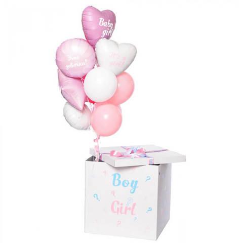 Коробка с шарами. Девочка
