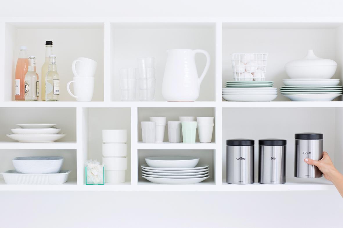 Набор контейнеров для сыпучих продуктов (1,4 л), 3 шт., Стальной матовый (FPP), арт. 314926 - фото 1