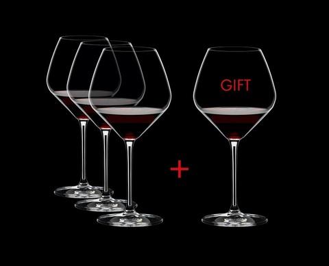 Набор из 4-х бокалов для вина Pinot Noir Pay 3 Get 4 770 мл, артикул 4411/07. Серия Extreme