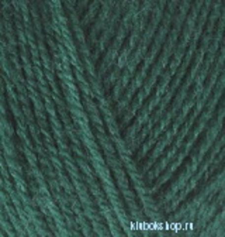 Пряжа Lanagold 800 (Alize) 507 античный зеленый, фото