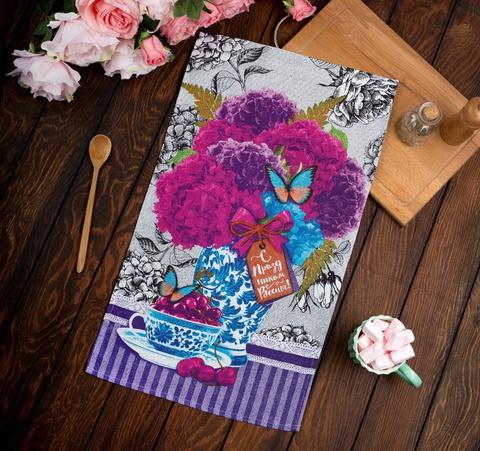 Полотенце кухонное Гортензия С праздником Весны 35х60 см