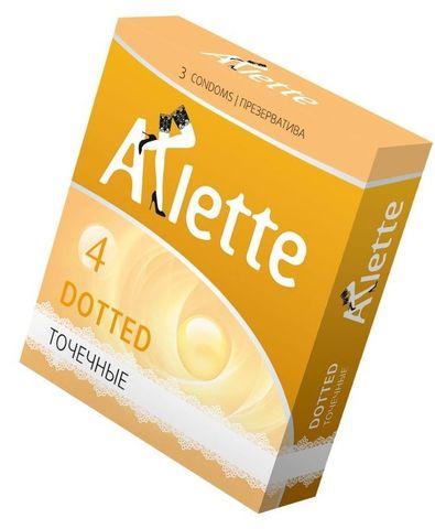 Презервативы Arlette Dotted с точечной текстурой - 3 шт.