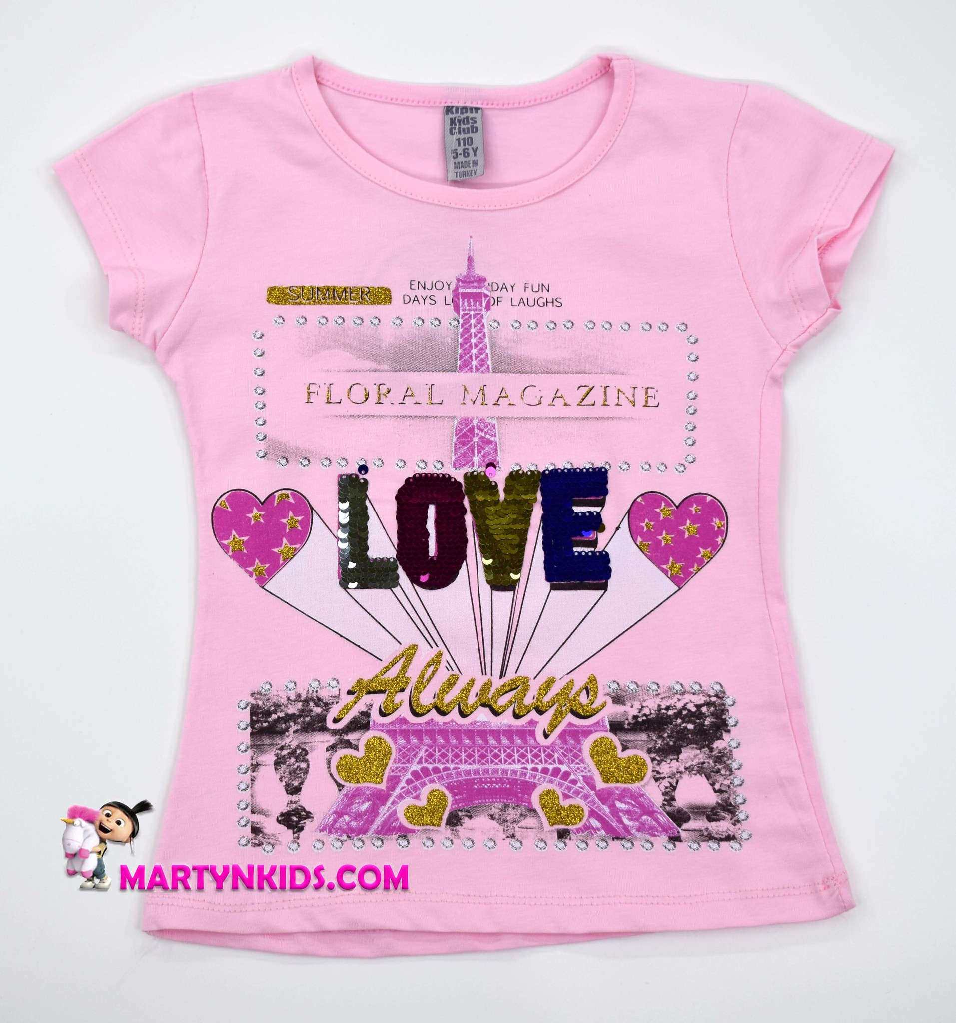 2193 футболка LOVE сердце