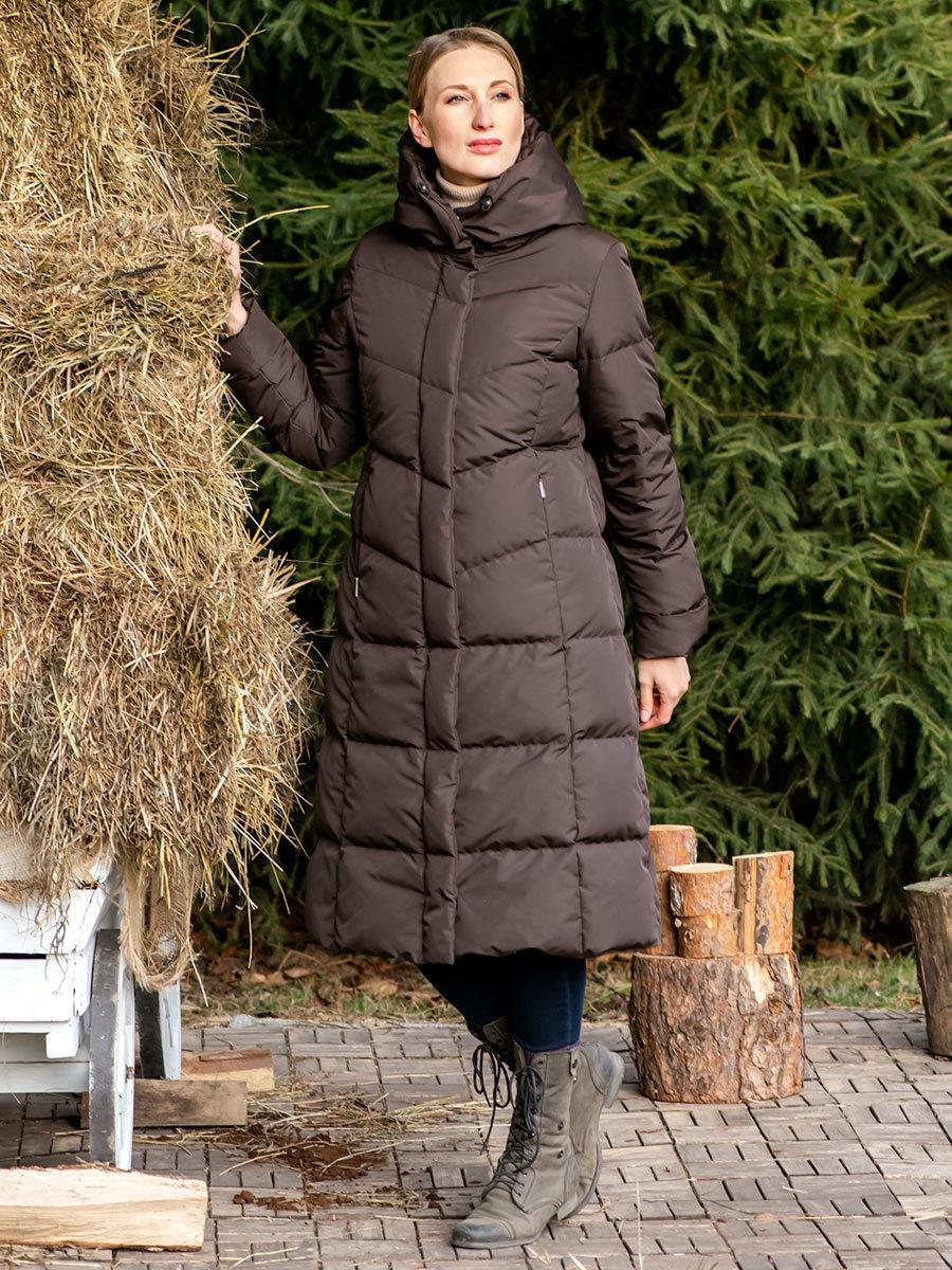 Joutsen пуховик Dorah темно-коричневый - Фото 1