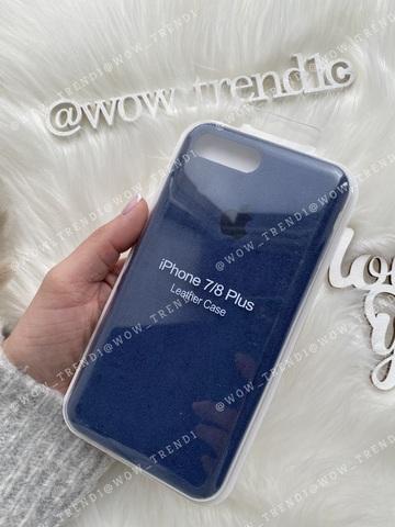 Чехол iPhone 7/8 Plus Alcantara case full /blue/