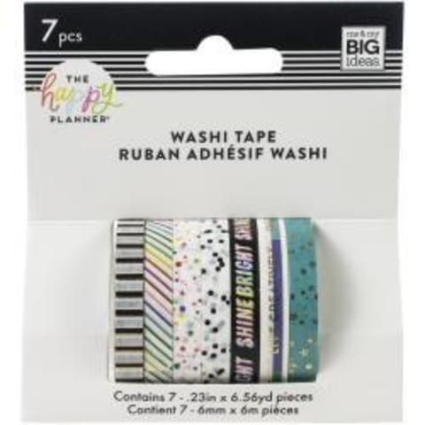 Набор скотчей Happy Planner Mini Washi Tape 3 мм x 6 м х 10 шт - Everyday