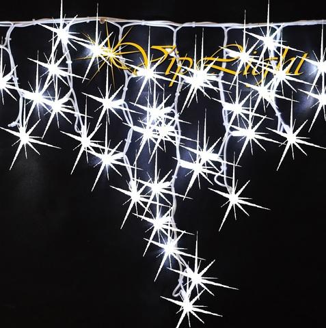 Полный флешь мерцание каждого светодиода каждой лампочки бахрома на каучуковом проводе LED