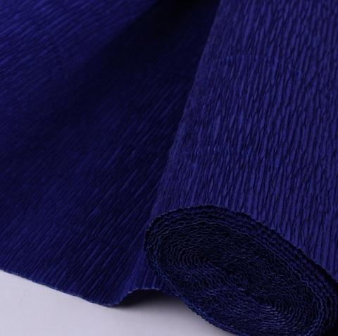 Бумага гофрированная, цвет 555 темно-синий, 180г, 50х250 см, Cartotecnica Rossi (Италия)