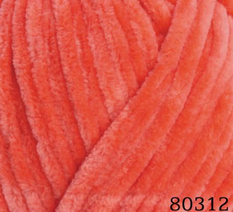Пряжа Himalaya Dolphin Baby арт. 80312 ярко-оранжевый