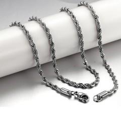 Цепочка унисекс 4х4 мм плетение верёвочка из ювелирной стали длиной 60 см Steelman mn00989
