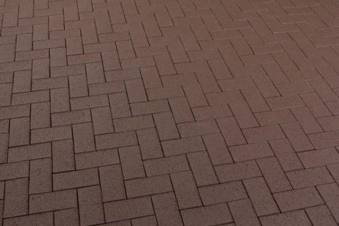 Feldhaus Klinker - P502KDF, Umbra plano, темно-коричневый, с оттенками, 200x100x52 - Клинкерная тротуарная брусчатка