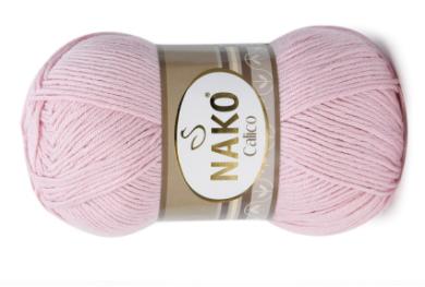 Пряжа Nako Calico светло-розовый 11638