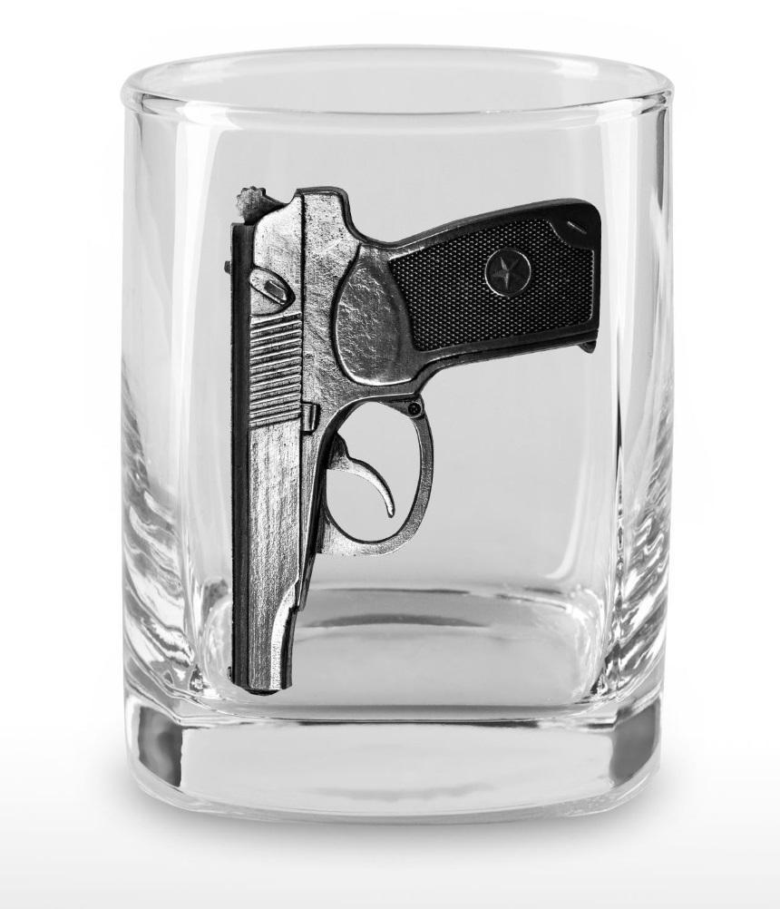 Набор стаканов для виски «Пистолет Макарова» набор стаканов для виски 6 шт bohemia набор стаканов для виски 6 шт