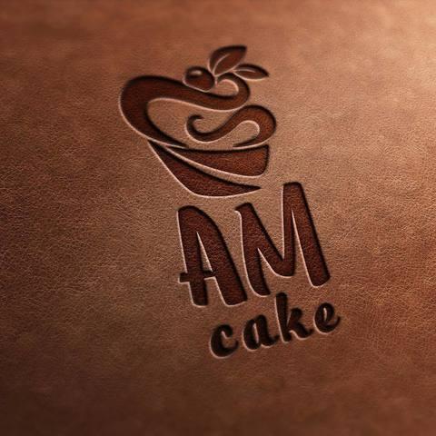 Логотип для частной пекарни AM cake