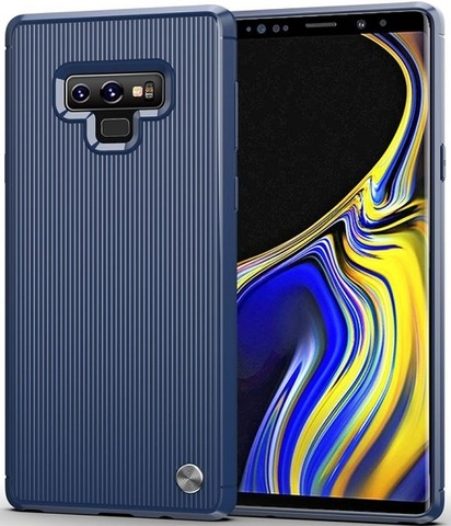 Чехол Samsung Galaxy Note 9 цвет Blue (синий), серия Bevel, Caseport