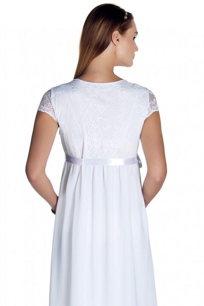 Фото платье для беременных EBRU, вечернее от магазина СкороМама, белый, размеры.