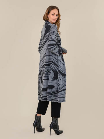 Женский кардиган светло-серого цвета из 100% шерсти - фото 4