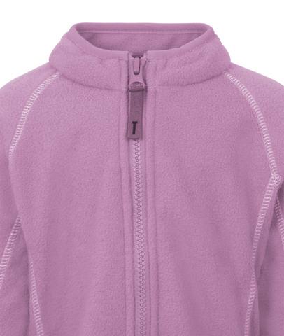 Флисовая кофта на молнии Ticket to Haven  для девочки розовая