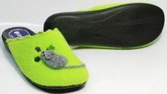 Тапочки женские на резиновой подошве Inblu NC- 1B Mouse Light Green